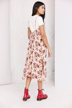 Slide View: 5: Ecote Shirred Gauze Midi Slip Dress