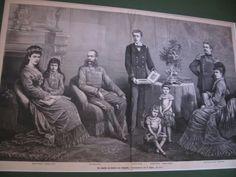 Sissi em poucas pinturas con seus filhos, marido sogra e cunhado