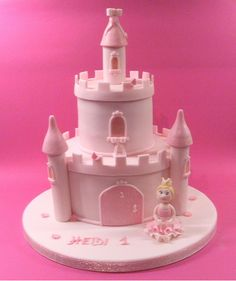 Princess castle cake. Inspired by Debbie Brown.