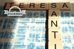 Scrabble de madera maciza venta online scrabble for Letras scrabble decoracion