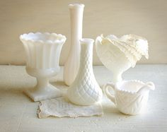 Vintage Milk Glass White - Dinnerware