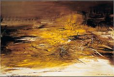 Zao Wou-Ki's painting. Abstract, splendid use of brush stroke and color.