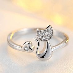 Cute Animal Cat Ring