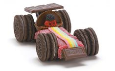 - easy cake toppers or party food Oreo & Candy Racing Cars | upper sturt general store
