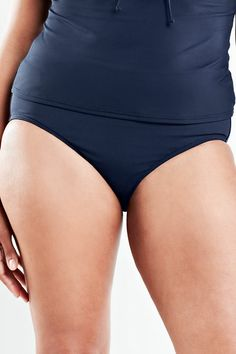 61eb2fb8d4e25 Women s Beach Living High Rise Swimsuit Bottom with Tummy Control from Lands   End