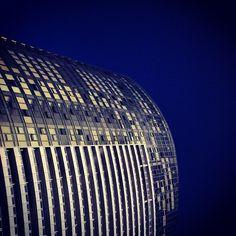 Building that looks like a spaceship in Dockland, Melbourne, Australia .@adamjhamilton7