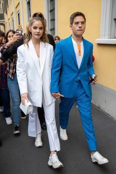 Barbara Palvin and Dylan Sprouse Cute Celebrity Couples, Cute Couples Goals, Celebrity Style, Most Stylish Men, Stylish Couple, Stylish Work Outfits, Dressy Outfits, Fashionable Outfits, Stylish Outfits