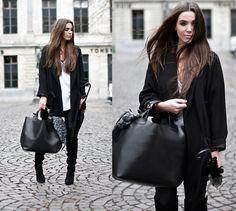 COTTDS Cindy van der Heyden - Zara Coat Blazer Oversized - BLACK / WHITE