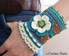 Hey, I found this really awesome Etsy listing at https://www.etsy.com/il-en/listing/235470430/crochet-bracelet-statement-boho-cuff-big