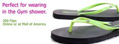 {12 days of Fashion & Fun Flips}  Day 4: Find the perfect pair of flip flops for wearing in the Gym shower.