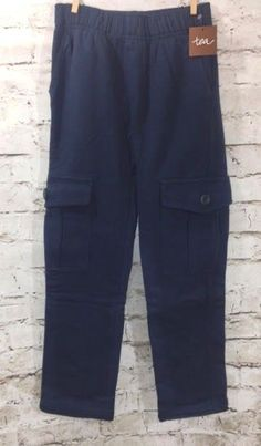 NWT TEA Collection Out and About Cargo Pant Sz 7 Boy's Heritage Blue Pull On New #TeaCollection #CargoCombat #Everyday