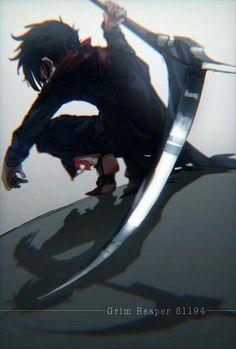 Anime Angel Of Death Grim Reaper - Anime Art Manga, Manga Boy, Anime Grim Reaper, Demon Manga, Familia Anime, Satsuriku No Tenshi, Anime Lindo, Film D'animation, Estilo Anime