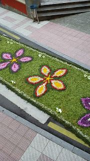 Aprendiz: alfombra floral Corpus Navia 2013
