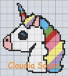 Risultati immagini per grille gratuite licorne Unicorn Knitting Pattern, Unicorn Cross Stitch Pattern, Cross Stitch Charts, Cross Stitch Designs, Cross Stitch Patterns, Cross Stitching, Cross Stitch Embroidery, Art Perle, Graph Paper Art