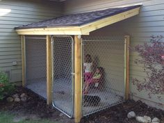 Extend the gate up to the roof and you'd have an outdoor play area for the cat!