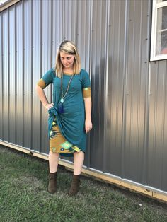 Lularoe Carly Mix it up! Wear your Julia Dress under a Carly dress!