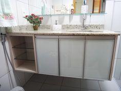 Armários de Banheiro com portas de vidro branco #826549 1600 1200