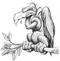 vulture drawing - Pesquisa Google