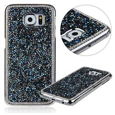 S6 Edge Case,Galaxy S6 Edge Case,UZZO Desgin Deluxe Bling Rhinestones Diamond Crystal Hard Case for Samsung Galaxy S6 Edge Bling Glitter Hard Shell Protective Skin Case Cover Samsung Galaxy S6 Edge (2015) With 1Free Keyring- Dark Blue UZZO http://www.amazon.com/dp/B00W4RWW0S/ref=cm_sw_r_pi_dp_gEesvb0J3PA5Y