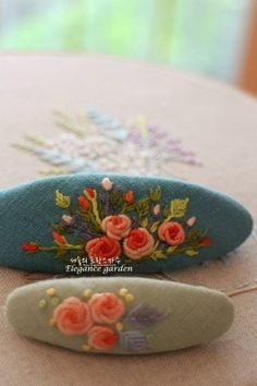 Silk Ribbon Embroidery, Embroidery Patterns, Hand Embroidery, Decorative Hand Towels, Shibori, Hair Pins, Bows, Stitch, Bullion Embroidery
