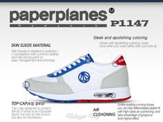 PaperPlanes AirCushion Mens Athletic Running Walking Cross Training Sports Shoes #PaperPlanes #RunningCrossTraining