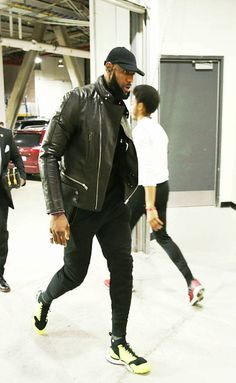 LeBron James Rocks Balenciaga Jacket, John Elliott Sweatpants And Nike Sneakers
