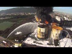 incêndio em Santos apoio com Drone ao Corpo de Bombeiros SP part 2