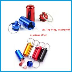 2017 Portable Outdoor Emergency Pills Bottle Sealed Waterproof Aluminum Alloy Travel Kits Camping tool outdoor Edc