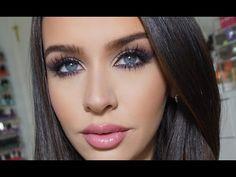 Purple Smokey Cat Eye Makeup Tutorial - YouTube #carlibybel