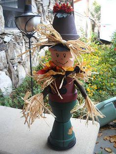Clay Pot Scarecrow!