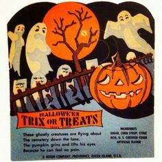Vintage Halloween candy holder card