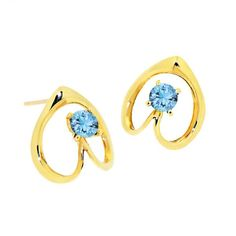 ISIS 9k Gold Gemstone Earrings by Arosha Luigi