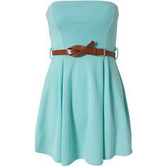 Club L Liza Bandeau Dress ($28) ❤ liked on Polyvore featuring dresses, vestidos, robe, short dresses, mint green, party dresses, short blue cocktail dresses, pleated mini dress, tall dresses and mint green cocktail dress