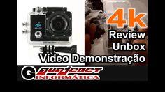Action Cam Go 4k Sports Ultra HD DV - Unbox, Review e Vídeo Demonstração