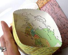 Map Favor Bag, Vintage Map, Vintage Wedding, Favor Envelope, Customizable, Set of 100, Destination Wedding, Graduation Party, Wedding Favor