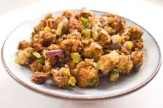 Vegan Stuffing (I made this for Thanksgiving and my meat-loving family members loved it- I used whole wheat bread with lots of nuts and seeds already in it and added mushrooms and carrots)