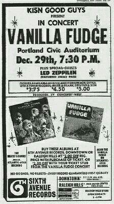 Vanilla Fudge with special guests, Led Zeppelin
