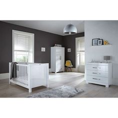 Buy Silver Cross Notting Hill Cotbed Amp Dresser White