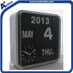kwarts muur flip klok met kalender