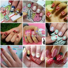 Adorable nail art! by raydance, via Flickr
