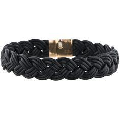 Pre-owned Gucci 18K Woven Leather Bracelet ($245) ❤ liked on Polyvore featuring jewelry, bracelets, 18k gold bracelet, 18k bracelet, 18k gold jewelry, gold bracelet and 18 karat gold jewelry