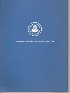 Vintage Southwester bell telephone Blue Book of telephone numbers NOS area codes birthdays