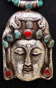silver Buddha pendant from Tibet