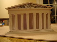 The Parthenon Athens Greece Model - Instructables Ancient Greek Buildings, Ancient Greek Architecture, Gothic Architecture, Parthenon Greece, Athens Greece, Ancient Greek Sculpture, Ancient Egyptian Art, Ancient Aliens, Ancient Greece Display