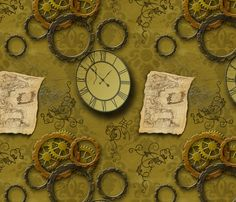 steampunk fabric by luciefaire on Spoonflower - custom fabric