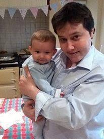 Robin's son, RJ, with Robin's grandson, Maxwell-Robin.
