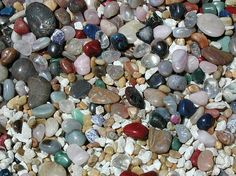 Colorful Stones laying around in the sun outside :-)