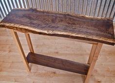 LIVE EDGE WALNUT TABLE Live Edge Furniture, Funky Furniture, Woodworking Furniture, Pallet Furniture, Custom Furniture, Teds Woodworking, Woodworking Ideas, Live Edge Console Table, Live Edge Table