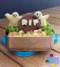 Halloween Bento: Ghosts in a Graveyard | Bento Days