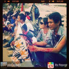 @pipi_supeni in action  #aksi #demo #zombie #insta #instagood #instadailyphoto #instagram